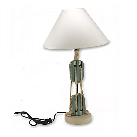Buy Nautical Pulley Multicolor Table Lamp From Bed Bath