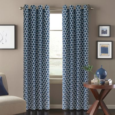 Morocco 108-Inch Window Curtain Panel in Blue