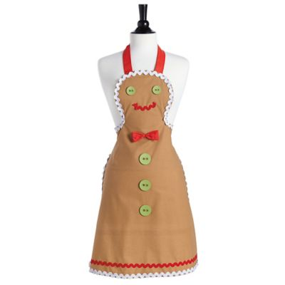 Jessie Steele Gingerbread Adult Bib Apron
