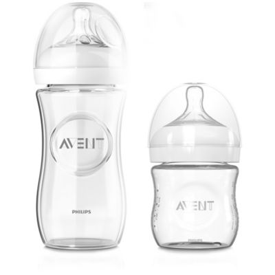 AVENT Natural 3-Pack 4 fl. oz. Glass Bottles