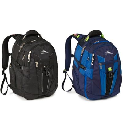 Black Blue Laptop Backpack