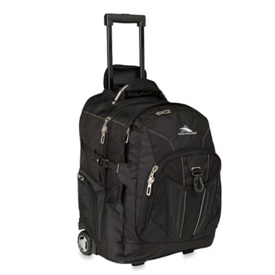 High Sierra Wheeled Business Laptop Backpack in Black