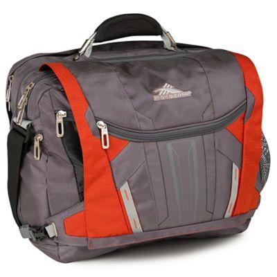 High Sierra® XBT TSA Laptop Messenger Bag in Charcoal/Lava/Silver/Black