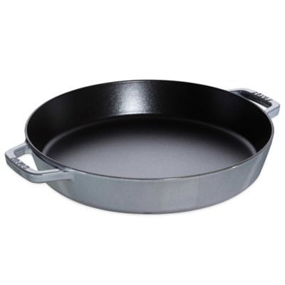 Staub 13-Inch Double Handle Fry Pan in Dark Blue