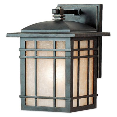 Quoizel Hillcrest Outdoor Small Squared Wall Lantern in Imperial Bronze with CFL Bulb