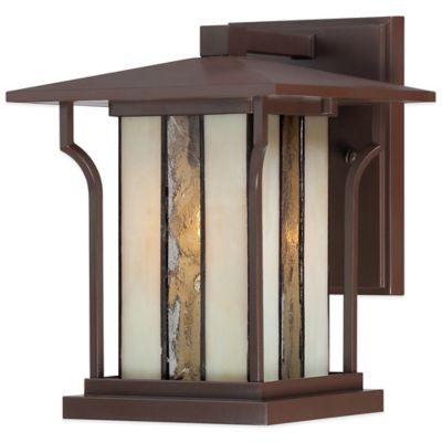 Quoizel Langston Outdoor Large Wall Lantern in Chocolate Bronze