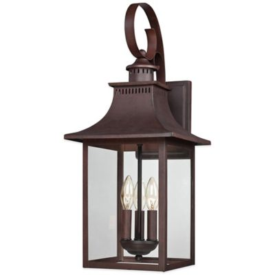 Quoizel Chancellor Outdoor 23.5-Inch Wall Lantern in Copper Bronze