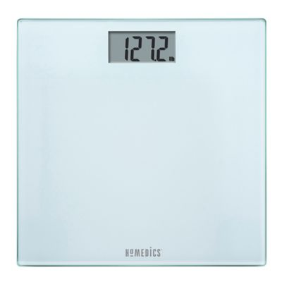 HoMedics® Glass Digital Bath Scale in Frosted White