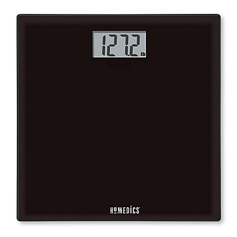 HoMedics Glass Digital Bathroom Scale In Black Www