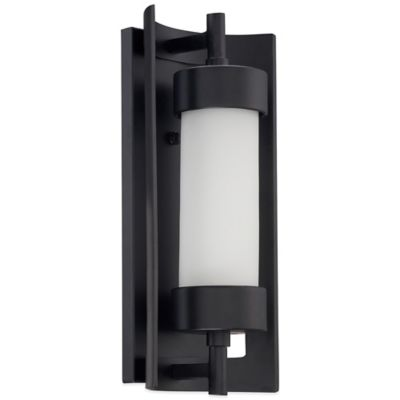 Quoizel Milan Outdoor Medium Wall Lantern in Mystic Black