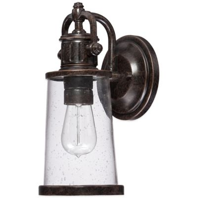 Quoizel Steadman Outdoor Small Wall Lantern in Imperial Bronze