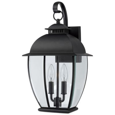 Quoizel Bain Outdoor Small Wall Lantern in Mystic Black