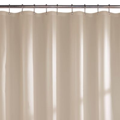 Microfiber Shower Curtain Liner in White