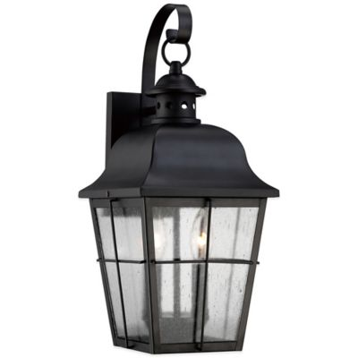 Quoizel Millhouse Outdoor Small Wall Lantern in Mystic Black