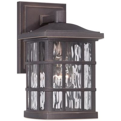 Quoizel Stonington Outdoor Small Wall Lantern in Palladian Bronze