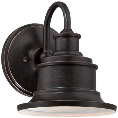 Quoizel Seaford Outdoor Small Wall Lantern in Imperial Bronze