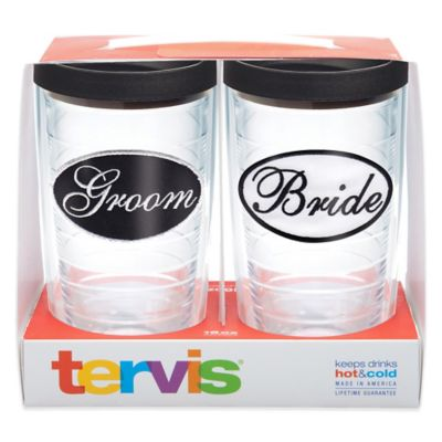 Tervis® Bride and Groom 16 oz. Tumbler Gift Set with Lids (Set of 2)