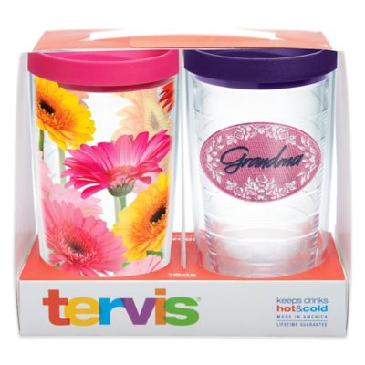 Tervis® Grandma Gerbera Daisy 16 oz. Tumbler Gift Set with Lids (Set of 2)