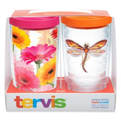 Tervis® Dragonfly Gerbera Daisy 16 oz. Tumbler Gift Set with Lids (Set of 2)