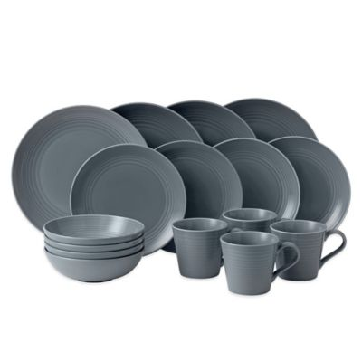 Gordon Ramsay by Royal Doulton® Maze 16-Piece Set in Dark Grey