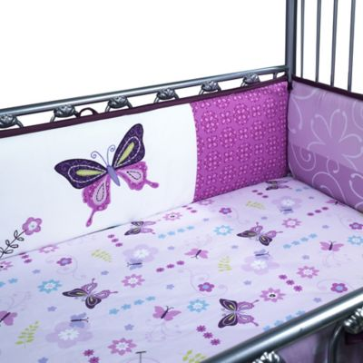 Lambs & Ivy® Butterfly Lane 4-Piece Crib Bumper