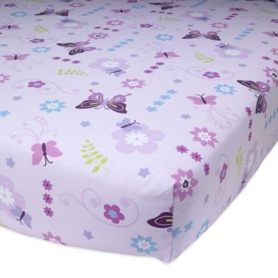 Lambs & Ivy® Butterfly Lane Fitted Crib Sheet