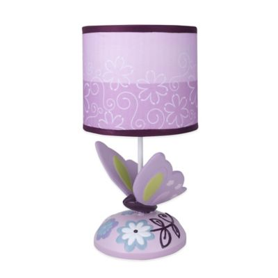 Lambs & Ivy® Butterfly Lane Lamp Base with Shade