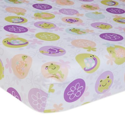 Lambs & Ivy® Puddles Fitted Crib Sheet