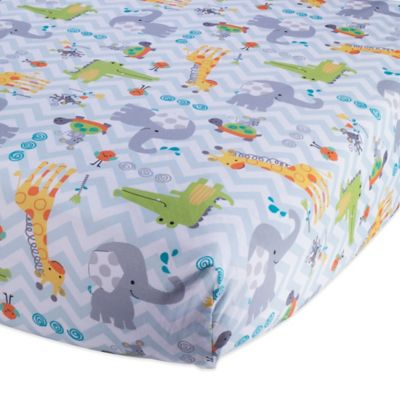 Lambs & Ivy® Yoo-Hoo Fitted Crib Sheet