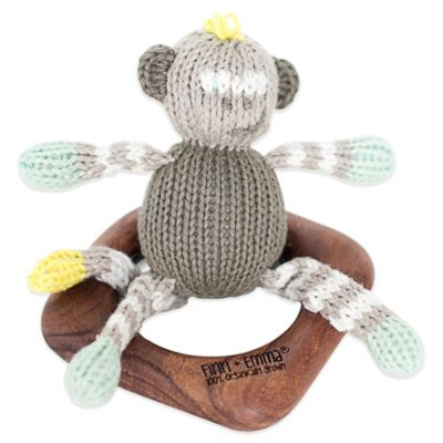 Finn + Emma® Organic Theo the Monkey Teething Ring