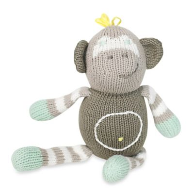 Finn + Emma® Organic Theo the Monkey Rattle