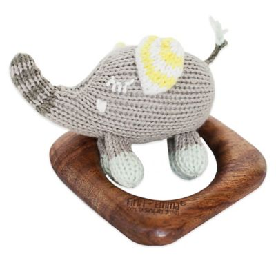 Finn + Emma Piper the Elephant Organic Teething Ring