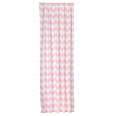 Window Panel in Pink Chevron