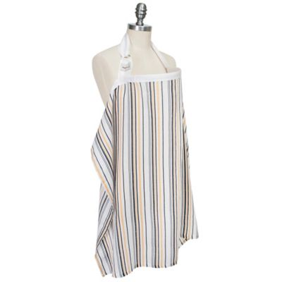 Bebe au Lait® Muslin Nursing Cover in Vintage Stripe