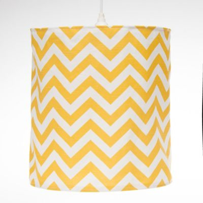 Glenna Jean Swizzle Hanging Chevron Drum Shade Kit in Yellow