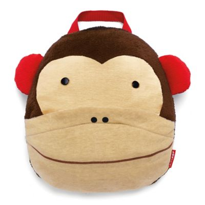 SKIP*HOP® Zoo Monkey Travel Blanket in Brown/Red