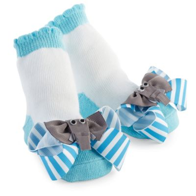 Mud Pie® Elephant Socks in Blue