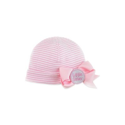 "Mud Pie® ""Little Sister"" Jumbow Hat in Pink/White"