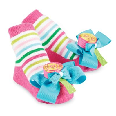 Mud Pie® Lollipop Socks in Pink/Blue