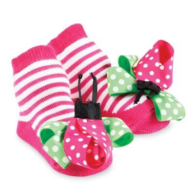 Mud Pie® Ladybug Socks in Pink