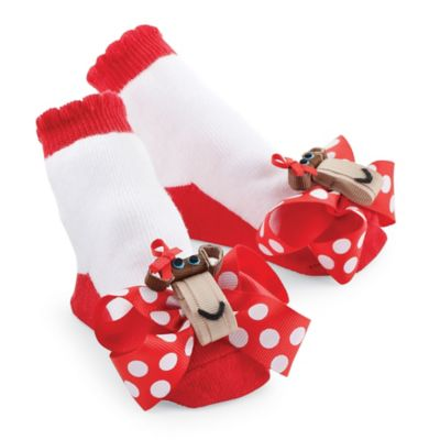 Mud Pie® Monkey Socks in Red