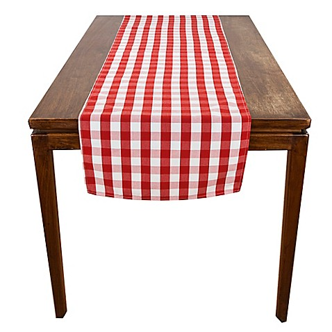 table to Table Runner > x Table Red runner Riegel® 18  > and beyond bed 96 bath Inch at Farm Check Inch
