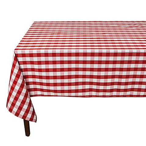 Checkered Cloth Tablecloth : Buy Riegel® Red Check 90-Inch Square Tablecloth from Bed Bath ...