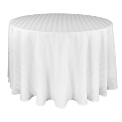 Riegel® Satin Stripe 70-Inch Round Tablecloth in White