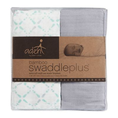 Swaddle Blankets > aden® by aden + anais® 2-Pack Swaddle Plus® Blankets in Bitsy