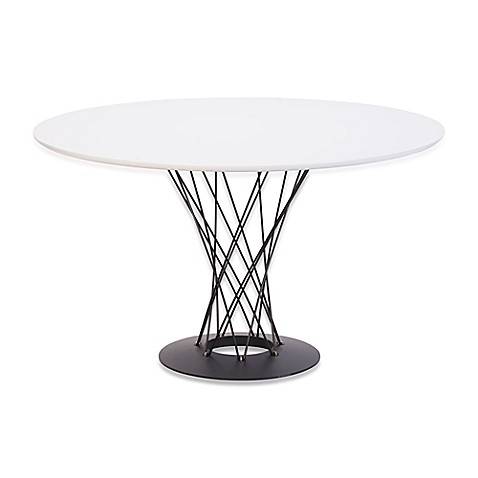 Zuo Modern Spiral Dining Table In White