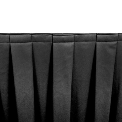 Riegel® Poly Twill 72-Inch x 18-Inch Table Skirting in Black