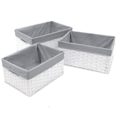 Lined Baskets for Storage