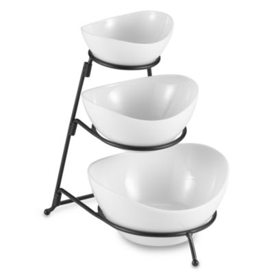 B. Smith Three-Tier Serving Bowls