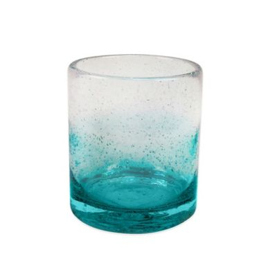 Ombre Bubble Double Old Fashioned Glass in Teal